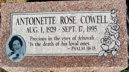 COWELL, ANTOINETTE ROSE - Mohave County, Arizona | ANTOINETTE ROSE COWELL - Arizona Gravestone Photos