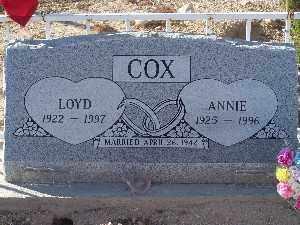 COX, LOYD - Mohave County, Arizona   LOYD COX - Arizona Gravestone Photos