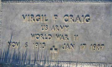 CRAIG, VIRGIL - Mohave County, Arizona | VIRGIL CRAIG - Arizona Gravestone Photos