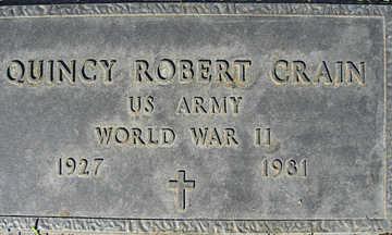 CRAIN, QUINCY ROBERT - Mohave County, Arizona | QUINCY ROBERT CRAIN - Arizona Gravestone Photos
