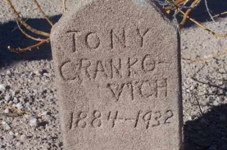 CRANKOVICH, TONY - Mohave County, Arizona | TONY CRANKOVICH - Arizona Gravestone Photos