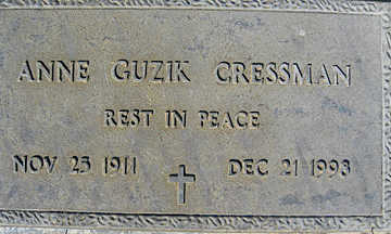 CRESSMAN, ANNE GUZIK - Mohave County, Arizona   ANNE GUZIK CRESSMAN - Arizona Gravestone Photos