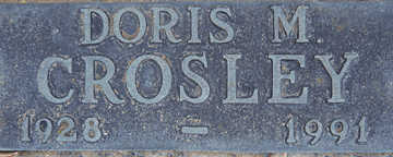 CROSLEY, DORIS M - Mohave County, Arizona | DORIS M CROSLEY - Arizona Gravestone Photos