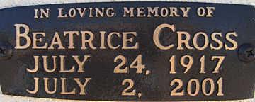 CROSS, BEATRICE - Mohave County, Arizona | BEATRICE CROSS - Arizona Gravestone Photos