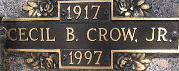 CROW JR., CECIL F - Mohave County, Arizona | CECIL F CROW JR. - Arizona Gravestone Photos