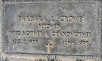 CROWE, BARBARA L - Mohave County, Arizona | BARBARA L CROWE - Arizona Gravestone Photos