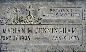 CUNNINGHAM, MARIAN M - Mohave County, Arizona | MARIAN M CUNNINGHAM - Arizona Gravestone Photos