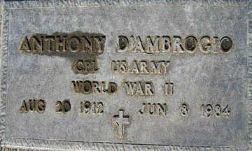 D'AMBROGIO, ANTHONY - Mohave County, Arizona | ANTHONY D'AMBROGIO - Arizona Gravestone Photos