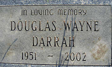 DARRAH, DOUGLAS WAYNE - Mohave County, Arizona | DOUGLAS WAYNE DARRAH - Arizona Gravestone Photos