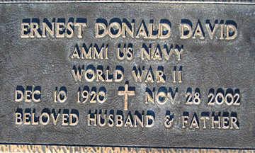 DAVID, ERNEST DONALD - Mohave County, Arizona | ERNEST DONALD DAVID - Arizona Gravestone Photos