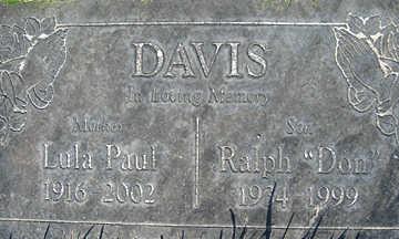 DAVIS, RALPH - Mohave County, Arizona | RALPH DAVIS - Arizona Gravestone Photos
