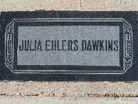 DAWKINS, JULIA EHLERS - Mohave County, Arizona | JULIA EHLERS DAWKINS - Arizona Gravestone Photos