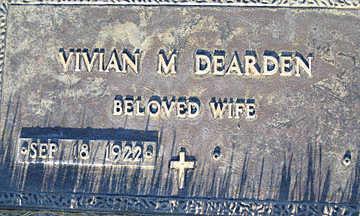 DEARDEN, VIVIAN M - Mohave County, Arizona | VIVIAN M DEARDEN - Arizona Gravestone Photos