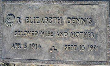 DENNIS, R. ELIZABETH - Mohave County, Arizona   R. ELIZABETH DENNIS - Arizona Gravestone Photos
