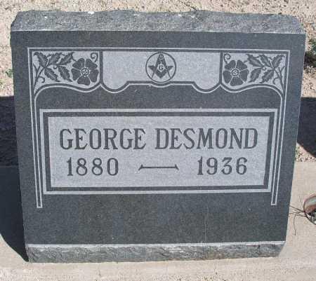 DESMOND, GEORGE - Mohave County, Arizona | GEORGE DESMOND - Arizona Gravestone Photos