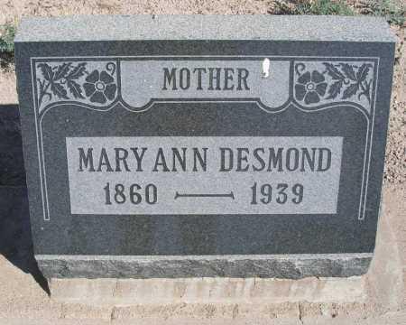 DESMOND, MARY ANN - Mohave County, Arizona | MARY ANN DESMOND - Arizona Gravestone Photos