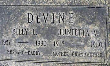 DEVINE, JUNIETTA V - Mohave County, Arizona | JUNIETTA V DEVINE - Arizona Gravestone Photos