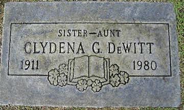DEWITT, CLYDENA GRACE - Mohave County, Arizona | CLYDENA GRACE DEWITT - Arizona Gravestone Photos