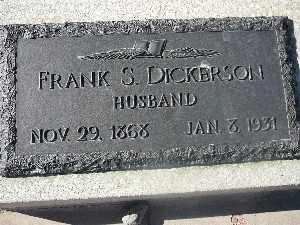 DICKERSON, FRANK S - Mohave County, Arizona   FRANK S DICKERSON - Arizona Gravestone Photos