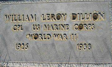DILLION, WILLIAM LEROY - Mohave County, Arizona   WILLIAM LEROY DILLION - Arizona Gravestone Photos