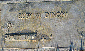 DINONI, RUBY M - Mohave County, Arizona | RUBY M DINONI - Arizona Gravestone Photos