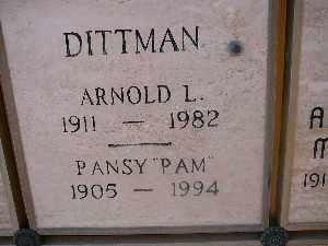 "DITTMAN, PANSY ""PAM"" - Mohave County, Arizona | PANSY ""PAM"" DITTMAN - Arizona Gravestone Photos"