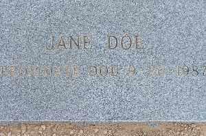 DOE, JANE - Mohave County, Arizona | JANE DOE - Arizona Gravestone Photos