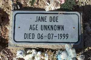 DOE, JANE - Mohave County, Arizona | JANE DOE - Arizona Gravestone Photos