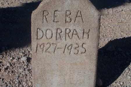 DORRAH, REBA - Mohave County, Arizona   REBA DORRAH - Arizona Gravestone Photos