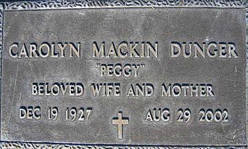 DUNGER, CAROLYN MACKIN - Mohave County, Arizona | CAROLYN MACKIN DUNGER - Arizona Gravestone Photos
