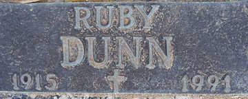 DUNN, RUBY - Mohave County, Arizona | RUBY DUNN - Arizona Gravestone Photos