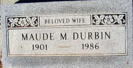 DURBIN, MAUDE M - Mohave County, Arizona   MAUDE M DURBIN - Arizona Gravestone Photos
