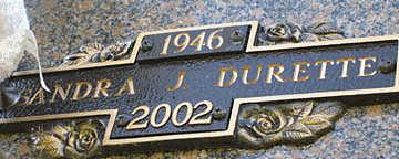 DURETTE, SANDRA J - Mohave County, Arizona | SANDRA J DURETTE - Arizona Gravestone Photos