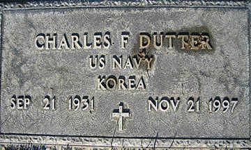 DUTTER, CHARLES F - Mohave County, Arizona | CHARLES F DUTTER - Arizona Gravestone Photos