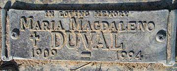 DUVAL, MARIA - Mohave County, Arizona | MARIA DUVAL - Arizona Gravestone Photos
