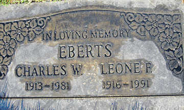 EBERTS, CHARLES W - Mohave County, Arizona | CHARLES W EBERTS - Arizona Gravestone Photos