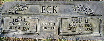 ECK, FRED L - Mohave County, Arizona | FRED L ECK - Arizona Gravestone Photos