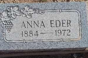 EDER, ANNA - Mohave County, Arizona | ANNA EDER - Arizona Gravestone Photos