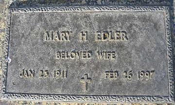 EDLER, MARY H - Mohave County, Arizona   MARY H EDLER - Arizona Gravestone Photos