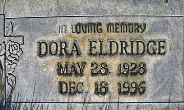 ELDRIDGE, DORA - Mohave County, Arizona | DORA ELDRIDGE - Arizona Gravestone Photos