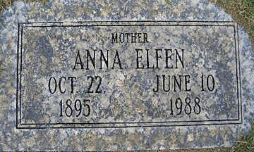 ELFEN, ANNA - Mohave County, Arizona | ANNA ELFEN - Arizona Gravestone Photos