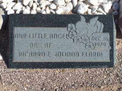 ELORDI, (INFANT DAUGHTER) - Mohave County, Arizona | (INFANT DAUGHTER) ELORDI - Arizona Gravestone Photos