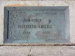ENGLISH, ELIZABETH - Mohave County, Arizona | ELIZABETH ENGLISH - Arizona Gravestone Photos