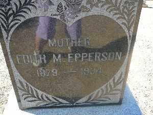 EPPERSON, EDITH M - Mohave County, Arizona   EDITH M EPPERSON - Arizona Gravestone Photos