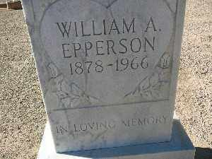 EPPERSON, WILLIAM A - Mohave County, Arizona | WILLIAM A EPPERSON - Arizona Gravestone Photos