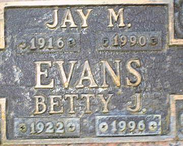 EVANS, JAY M - Mohave County, Arizona | JAY M EVANS - Arizona Gravestone Photos