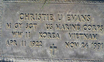EVANS, CHRISTIE U - Mohave County, Arizona | CHRISTIE U EVANS - Arizona Gravestone Photos