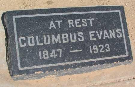 EVANS, COLUMBUS - Mohave County, Arizona   COLUMBUS EVANS - Arizona Gravestone Photos