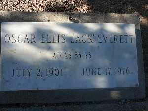 """EVERETT, OSCAR """"JACK"""" ELLIS - Mohave County, Arizona   OSCAR """"JACK"""" ELLIS EVERETT - Arizona Gravestone Photos"""