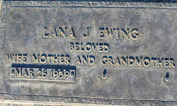 EWING, LANA J - Mohave County, Arizona | LANA J EWING - Arizona Gravestone Photos